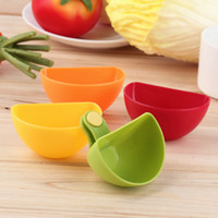 Wholesale 4Pcs Dip Clips Kitchen Bowl kit Tool Small Dishes Spice Clip For Tomato Sauce Salt Vinegar Sugar Flavor Spices