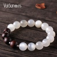 Beaded, Strands adorn gift boxes - VunSun natural moonlight Stone Bracelet female models single circle hand string ethnic wind adorn article white gift to send his girlfriend