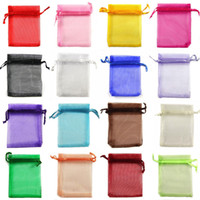 Wholesale 20 cm Drawstring Organza bags Gift wrapping bag Gift pouch Jewelry pouch organza bag Candy bags package bag mix color JF