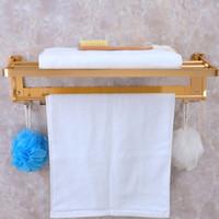 Wholesale Golden Towel Racks High Quality Foldable Bathroom Holder Towel Bars Bathroom Accessories Towel Holder JI0168