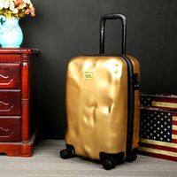 Wholesale NEW quot quot quot Matte Meteorite luggage rolling TSA lock Universal Wheel Trolley Case Be Damaged Travel Case suitcase yellow black red
