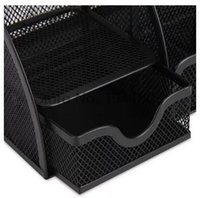Wholesale Deli Office Supplies multifunction pen holde storage box metal mesh pen holder