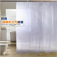 Wholesale EVA cm cm d new bath shade environmental materials waterproof mouldproof bath shower curtain Free shiping