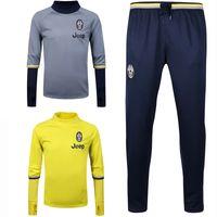 best men s sweaters - 2017 Juventus Sweater Long Sleeve Yellow Jacket Match Black Pants Juventus Sweater Training Tracksuit Grey Jackets Best Quality