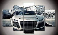 audi posters - unframed Printed Audi Car piece picture painting wall art children s room decor poster canvas