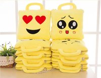 air pillow bags - 2016 New Arrivals Emoji Smile Pillow Blanket Set QQ WeChat Expression in Cute Lovely Air Conditioning Sleeping Bag