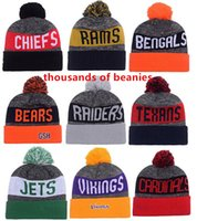 beanies football team - 2016 New Beanies American Football team Sports beanie for men Knitted Hats drop shippping Snapbacks Hats album offered B2