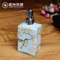 bathroom pumps - Modern Chinese Ceramic hand soap dispenser soap pump dispenser Bathroom Soap Dispensers