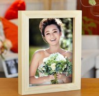 wood picture frame - 1pcs sample Wood photo frame inch fashion solid wood picture frame size can be customized