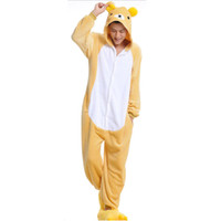 bear costumes for adults - Easily Bear Unisex Flannel Hooded Pajamas Adults Cosplay Cartoon Cute Animal Onesies Sleepwear Hoodies For Women