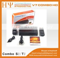 air satellite receivers - New P Full HD V7 combo DVB S2 T2 free to air Satellite Receiver box with PowerVu and Cccam