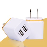 Wholesale NEW For Samsung Galaxy S7 S7Edge Wall Charger A V Universal USB Ac Wall Travel Power Charger Adapter for iPhone Plus S DHL CAB124
