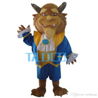 beauty mascot costumes - New Beast Mascot Costume From Beauty and the Beast Fancy Dress Adult