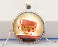 american tea - Tea Cup Necklace Cute Tea Cups Kawaii Necklace Alice In Wonderland Necklace Tea Lover Necklace
