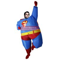 airblown halloween costumes - New Airblown Inflatable Fat Superman Costume Halloween Purim Party Fan Operated Superhero Funny Cosplay Fancy Dress Outfits