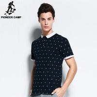 Wholesale Pioneer Camp Fashion Men Polo Shirt Mesh Mens poloshirt Brands Man Short Sleeve Casual polo shirts pattern Breathable hot sale