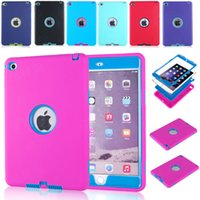 amazon drop shipping - DHL Shockproof Kids Protector Case PC Silicone Hybrid Robot Back Cover For quot Tablet Apple
