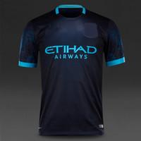 army club - Thai quality FC Manchester away jersey kits AGUERO SILVA football Club soccer jersey men s custom shirt set suit