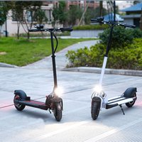 alloy kick - Flat Plate Kick Scooter for Men Women Black Wheels Aluminium Alloy Foldable Electric Scooter for Adults CH10