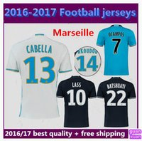 Wholesale Thai quality home away Marseille Soccer Jerseys LUCAS SILVA FLETCHER NKOUDOU CABELLA ALESSANDRINI BATSHUAYI Marseille foot