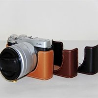 Wholesale Genuine Leather For FujiFilm Fuji XM1 XA1 XA2 X M1 X A1 X A2 Half Case Bag Body Set bottom Cover Easy Take Out of Battery