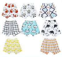 baby wolves - 24 Designs Design INS Kids PP pants baby toddlers boy s girl s ins animal fox panda wheels Wolf geometric pants shorts Leggings
