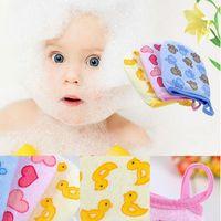 Wholesale New Cute Baby Bath Sponge Cartoon Super Soft Cotton Brush Rubbing Towel Ball Colors