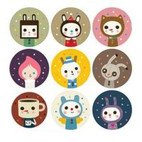 Wholesale 180pcs pack Labels Stickers Scrapbook Masking Sticky Illust Sticker Sealing Paste Decal sheet Scrapbook Masking labels Papelaria
