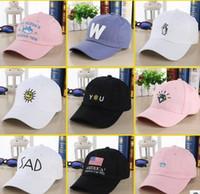 ball smile - Mix Designs New Style Simple Sanpback Fashion Ball Caps For Men Women Street Outdoor Hat Diamond Flag Smile Etc