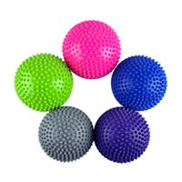 balance mat - Yoga Half Ball Fitness Equipment Kids Elder Durian Ball Massage Mat Ball Exercise Balance Ball Point Gym Yoga Pilates Ball