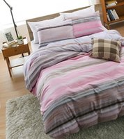 Wholesale 1 cotton four piece contracted stripe cotton bed three piece fashion and personality