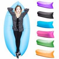New Lamzac Sair rápido inflável Lounger Air sono Camping Sofá KAISR Praia tecido de nylon saco de dormir Bed preguiçoso Cadeira ourdoor 260x70c