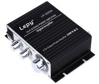 Wholesale Genuine Lepy LP A HiFi Digital Mini Audio Stereo Amplifiers Wx2 With Infrared Remote Control Home Car Amplifier EU PLUG