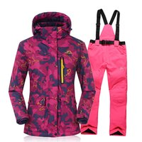 Wholesale new winter ski wear and pants with a thickened breathable double sheet single female ski mountaineering Suite