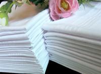 Wholesale New Hot Sale Cotton Male Table Satin Handkerchief Towboats Square Handkerchief Whitest CM jy810