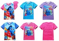 Wholesale New Finding Nemo Dory Baby Kids Summen T shirt Finding Dory Kids T shirts for Gilrs Styles Baby Summer Tee Shirts Nemo Dory Shirts D630
