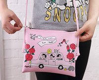leather weekend bags - Hot Colors Fashion Cute Women Girls PU Cosmetic Bags Storage Bag Cartoon Leather Shoulder Bags Weekend Carnival Party Handbags