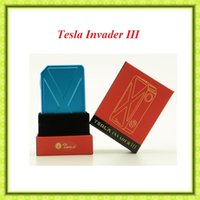 Wholesale Tesla Invader III W Box Mod authenic vape mod fit replaceable Battery VS Sigelei Fuchai W IPV4s Box mod