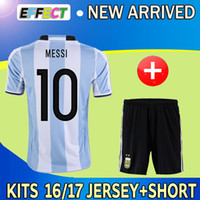 argentina football uniform - Copa America Argentina home soccer jerseys Uniforms set camiseta de futbol MESSI DI MARIA HIGUAIN Kun Aguero football shirts kits