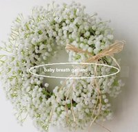 Wholesale Wedding decoration Gypsophila White Baby s Breath wreaths wedding decoration wreath inner Outer diameter about cm cm PF14