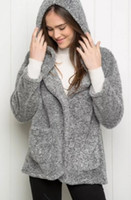 Wholesale 2016 European Women Long Knitted Cardigan Casual Loose Coat Cashmere Blend Pure Color Knitwear Comfortable Soft Fuzzy Sweaters Clothes