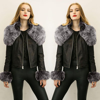 Cheap Plus Size Leather Motorcycle Jacket Fur | Free Shipping Plus ...