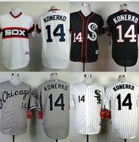 baseball jersey style shirts - 2015 Chicago White Sox Paul Konerko Jersey Black New Style Embroidery S XXL Baseball Jerseys Shirt Team Logo