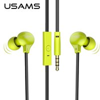 apple computer voice - USAMS Earphone mm In ear Clear Voice Mic Headphones Mobile Computer Headsets Super Bass Stereo Earbuds for Mobile Phone MP3