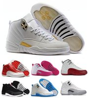 Wholesale 2016 Retro Basketball Shoes Sneakers Men Women Taxi Playoffs Gamma Grey White Replicas Sports Retro J12s XII Shoes