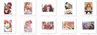 aisaka taiga figure - hot anime Toradora characters Taiga Aisaka and Ryuji Takasu poster TIGER x DRAGON characters Minori Kushieda canvas painting