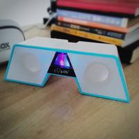 audio bridge - Happy bridge shape Multimedia Desktop Speaker with LED colorful lights volume control for PC Laptop Smartphone audio subwoofer