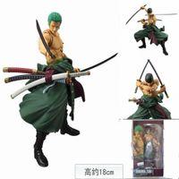 Wholesale One Piece Action Figures S H Figuarts SHF PVC cm Anime Toys Roronoa Zoro Model birthday gifts Brinquedo