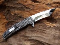 Wholesale Top Quality New Design Flipper Folding knife C HRC Mirror Polish Blade EDC Pocket folding knife Gift knives Lock Liner