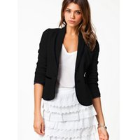 Wholesale Women Jackets suit New Fashion Casual Autunm outwear coat White and black Small Suit Blazer Women